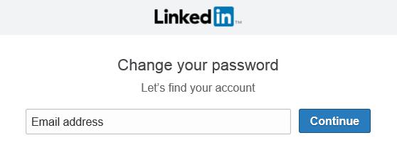 LinekdIn neues Passwort