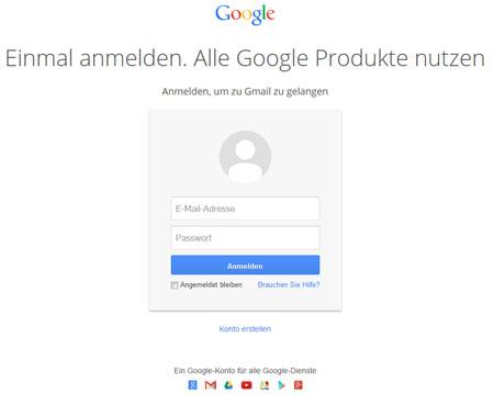 gmail pw vergessen