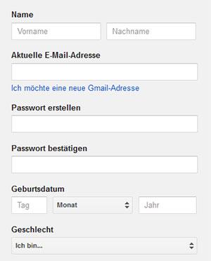 Gmail registrieren