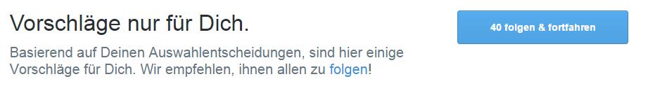 Twitter Konto Folgen