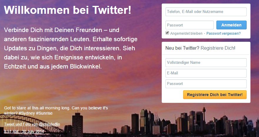 Twitter Konto
