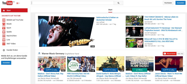 YouTube Dienst